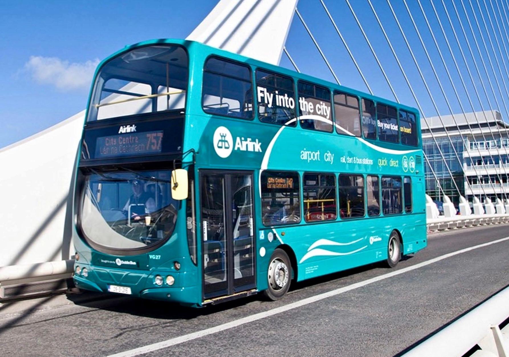 Airlink Dublín ofrece traslados regulares y económicos entre el aeropuerto y la ciudad.