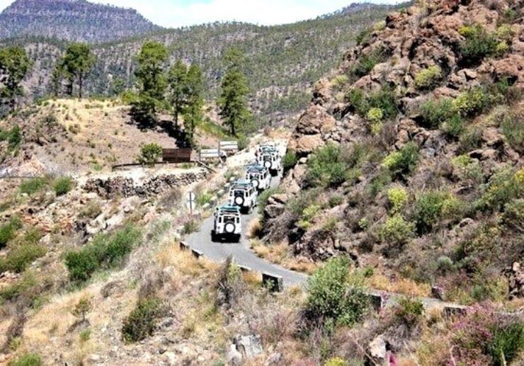 Amazing landscape on jeep safari Gran Canaria
