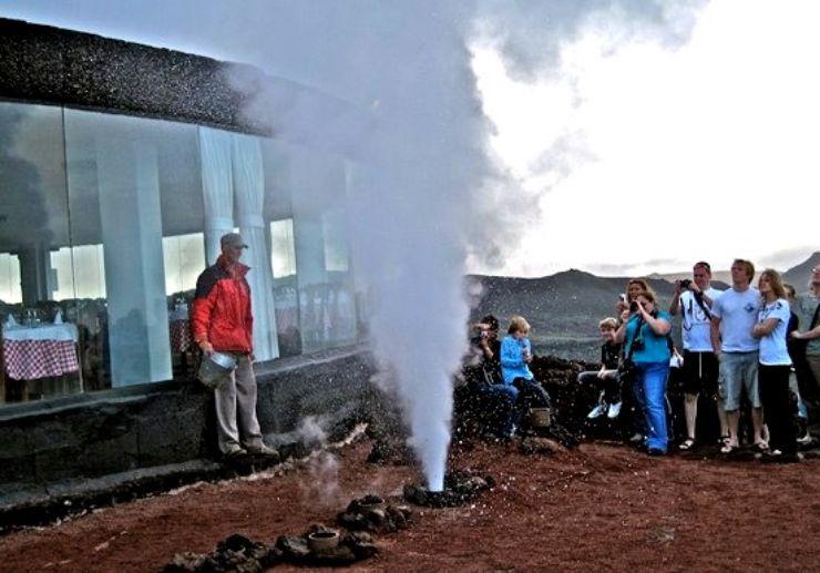 Volcanic underground steam demonstration