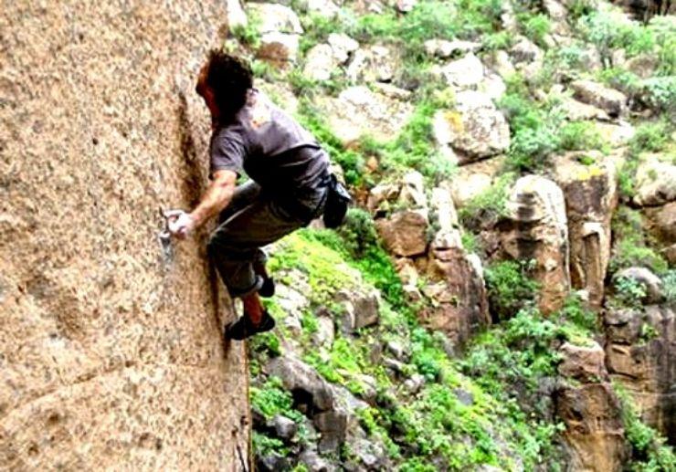 Rock climbing Gran Canaria landscape