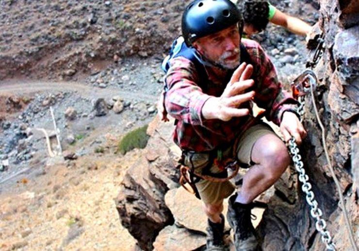 Ferrata climbing chains in Gran Canaria