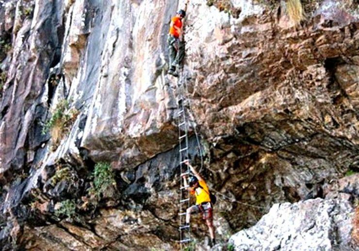 Gran Canaria ferrata ladder