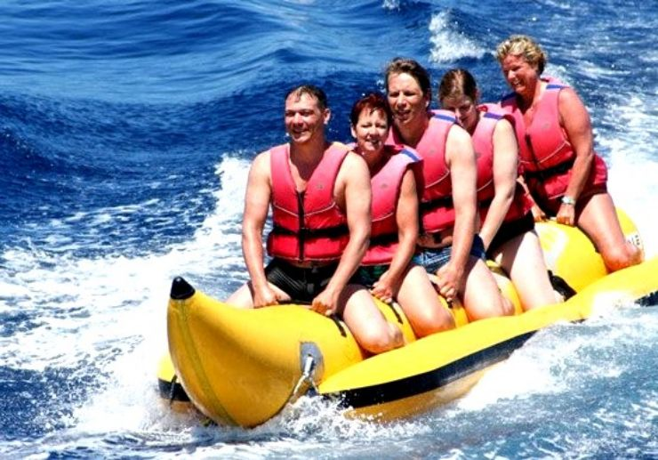 Banana boat adventure in La Palma