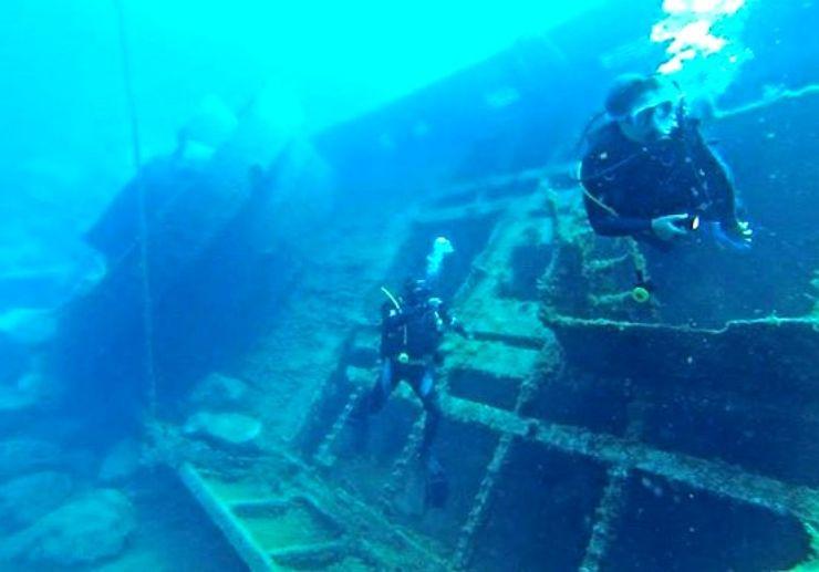 Wreck dive in Lanzarote