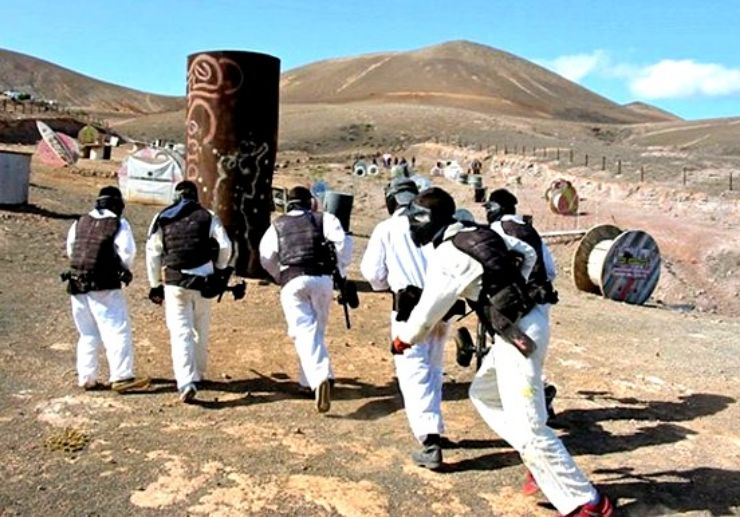 Paintball game adventure in Lanzarote