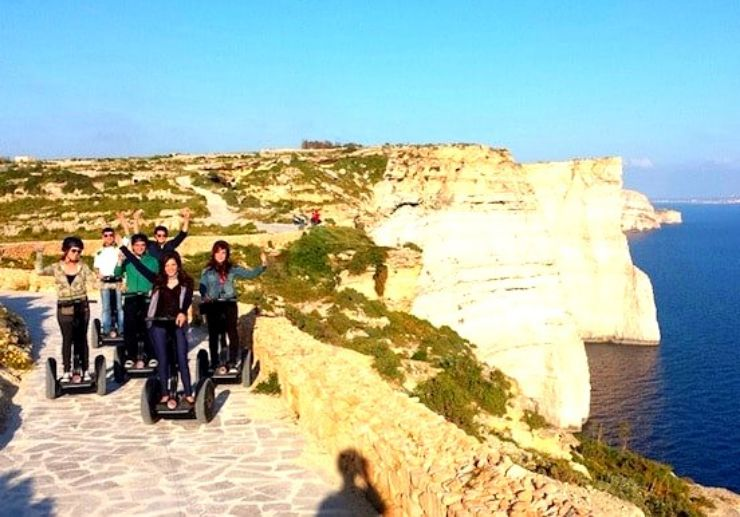 Visit Sanap Cliffs on segway tour in Gozo