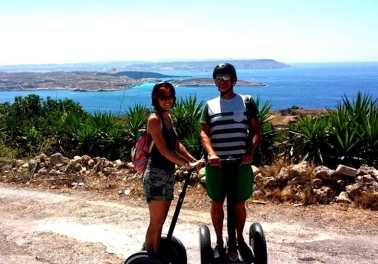Gozo coastal scenery on a segway tour
