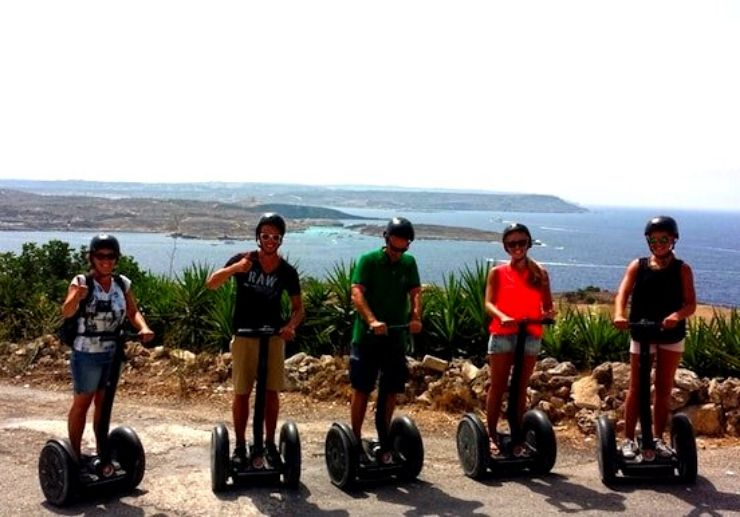 Enjoy segway with group of friends in Gozo