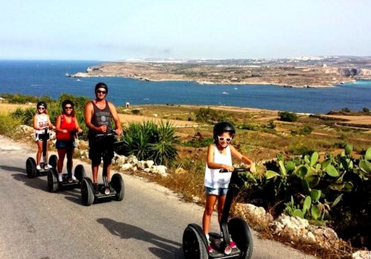 Enjoy beautiful Gozo coastline on segway