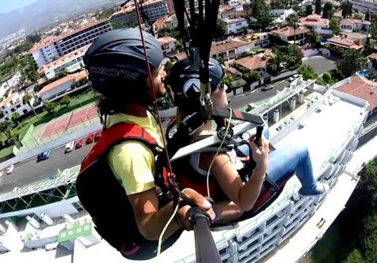 Paragliding Lago Martianez route Tenerife