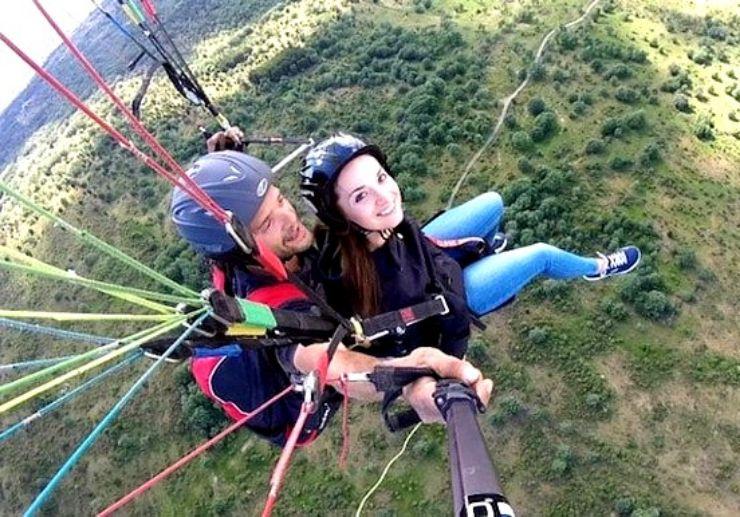 Tandem paragliding south Tenerife