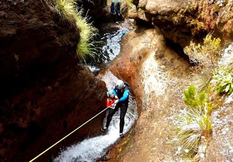canyoning to natural ponds in Madeira