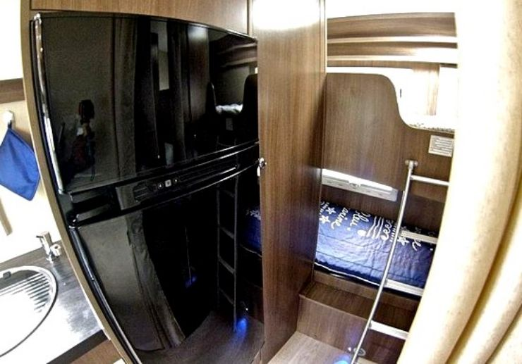 Madeira campervan with beds and fridge