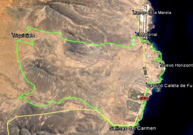 Caleta de Fuste buggy and quad tour route map