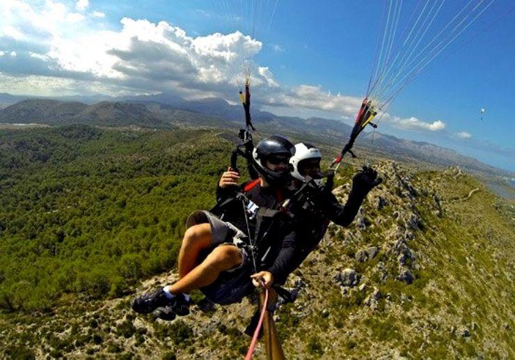 Paragliding in Mallorca Alcudia route