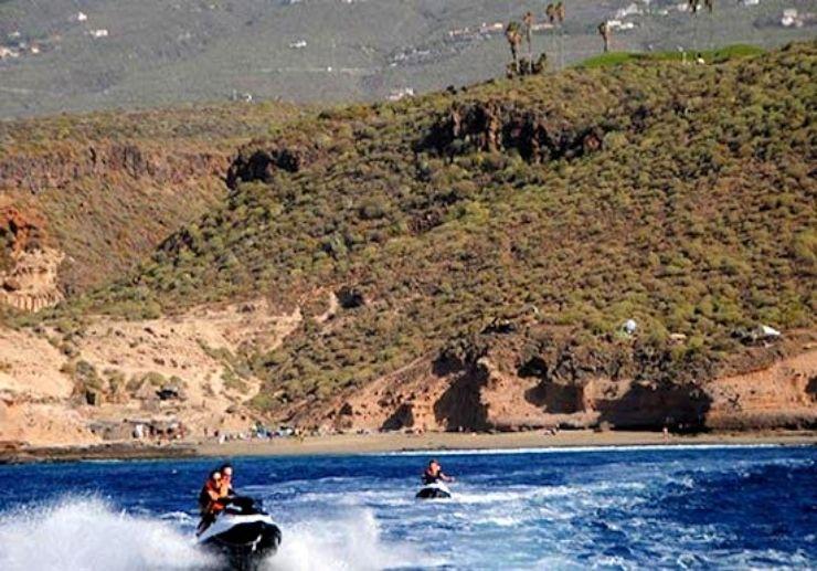 Jet bike safari Tenerife southern coast