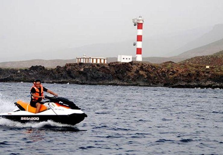 Jetski to lighthouse of Punta de la Rasca