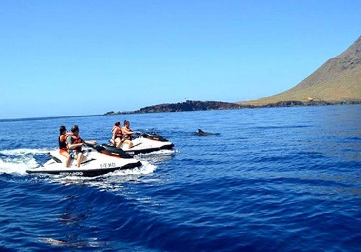 Spot dolphins on jetski Tenerife