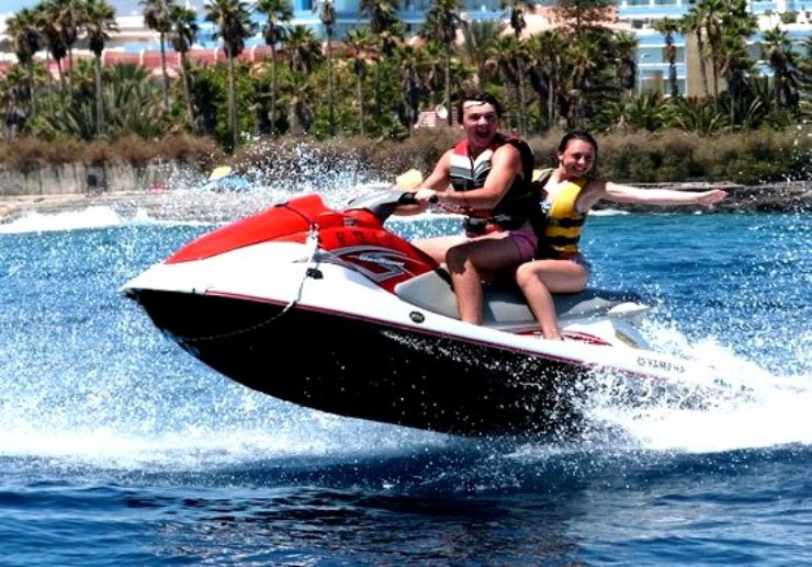 jet ski circuit ride in Tenerife