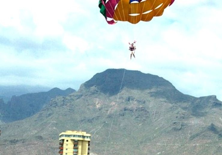 parascending over Tenerife coast