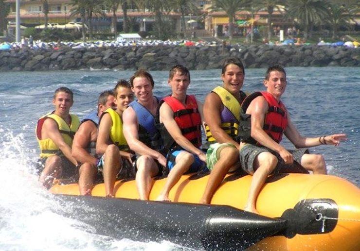 Banana boat adventure in Tenerife