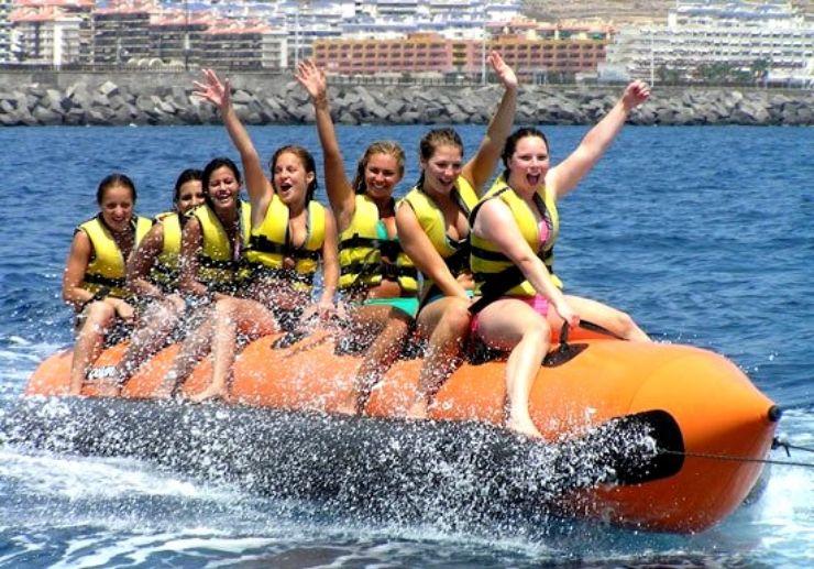 Banana boat ride in Tenerife