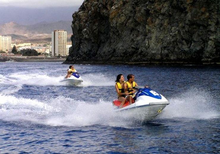 Jet ski safari along Tenerife coastline