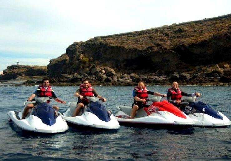 jet ski safari excursion Tenerife coastline