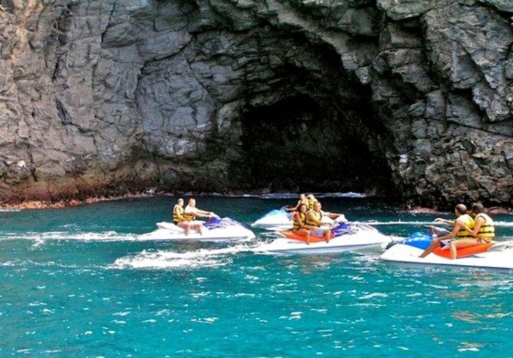 Visit sea caves in Tenerife jet ski safari