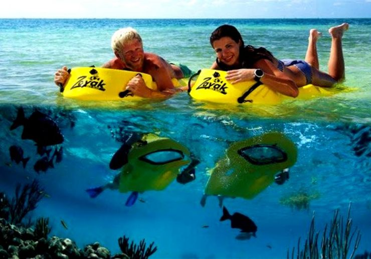 Glass bottom snorkelling in Lanzarote