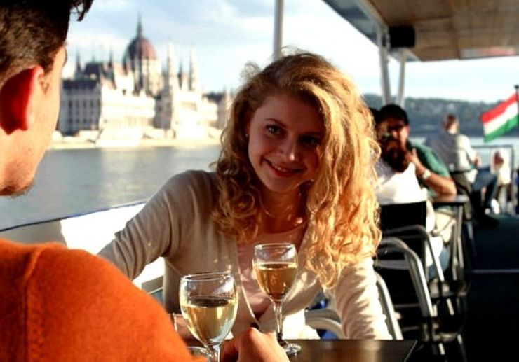 Afternoon wine tasting while on a Budapest cruise