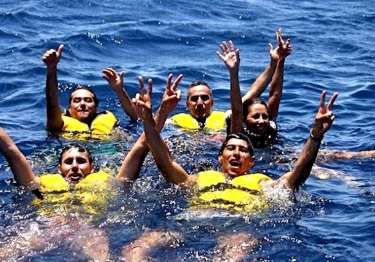 Jetski safari swimming in Puerto Carmen