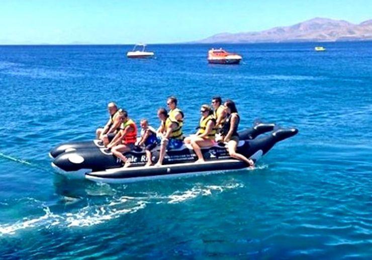 Fun and thrill on banana boat Puerto Carmen