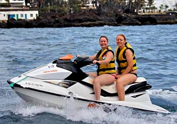 Jetski ride in Playa Blanca