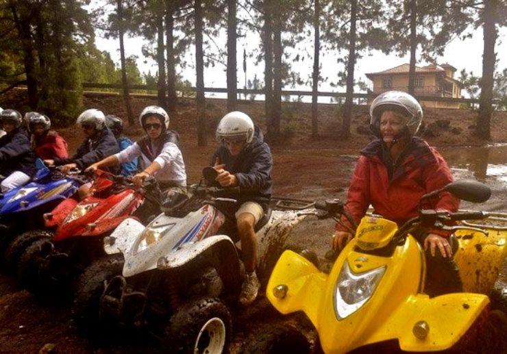 Explore Tenerife on quad bike forest trail