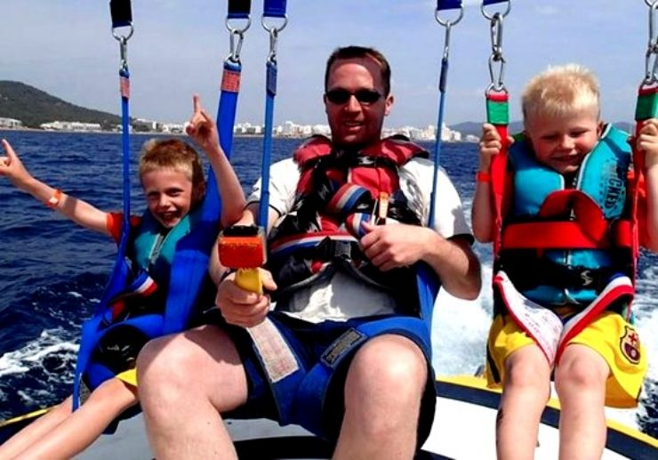 Parasailing fun in Ibiza