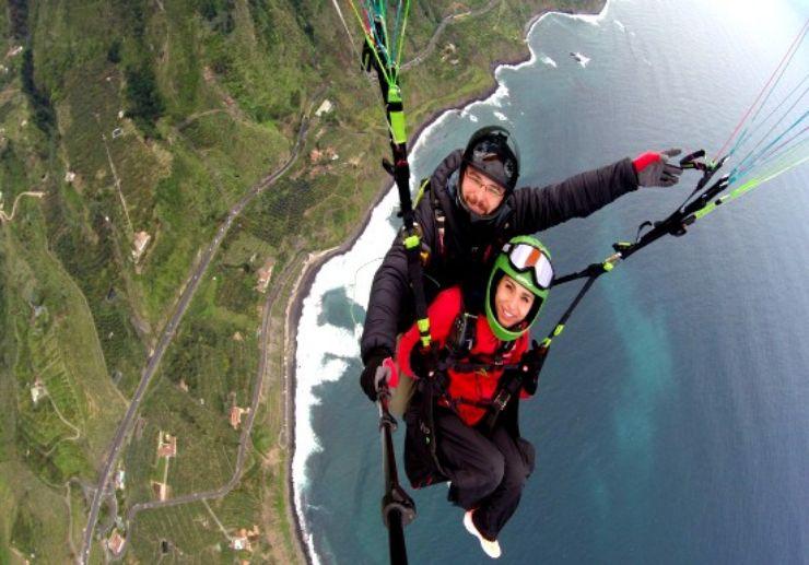Paragliding from La Corona viewpoint