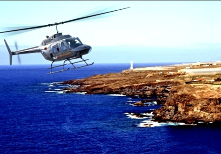 Helicopter tour above south Tenerife coast