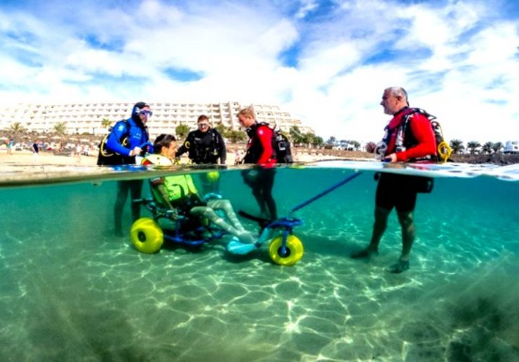 Sea trek adapted for the disabled Lanzarote