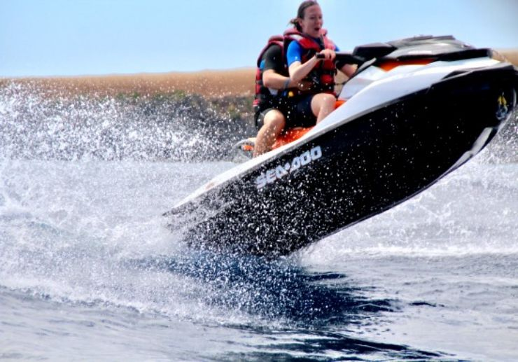 Speed and jump on jet ski experience to Papagayo