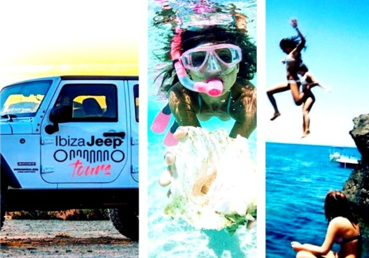 Ibiza jeep tour with paella snorkelling and cliff jump