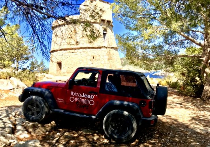Visit defence tower on Jeep tour in Ibiza