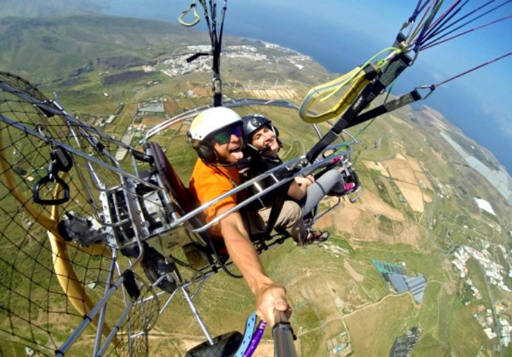 Fun and exciting paratrike in Gran Canaria