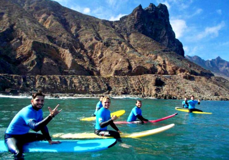 Learn surfing in Tenerife north