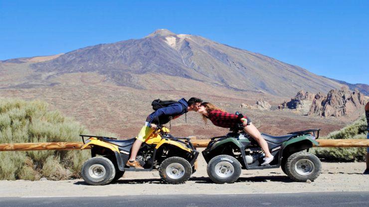 Teide quad tour couple kissing