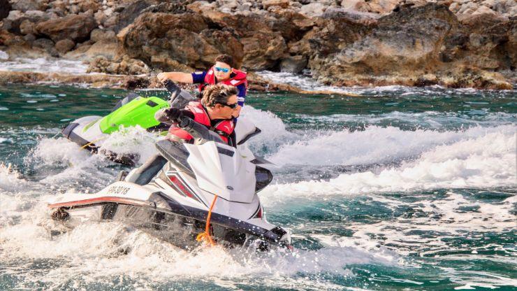 Jet ski excursion bay of Alcudia Mallorca